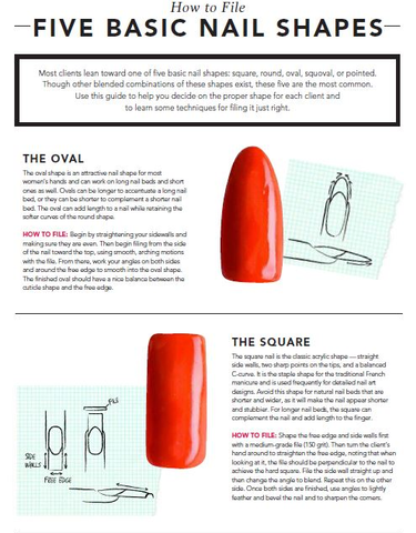 How to File 5 Basic Nail Shapes
