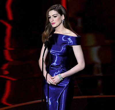 Anne Hathaway's Many Looks at the Oscars