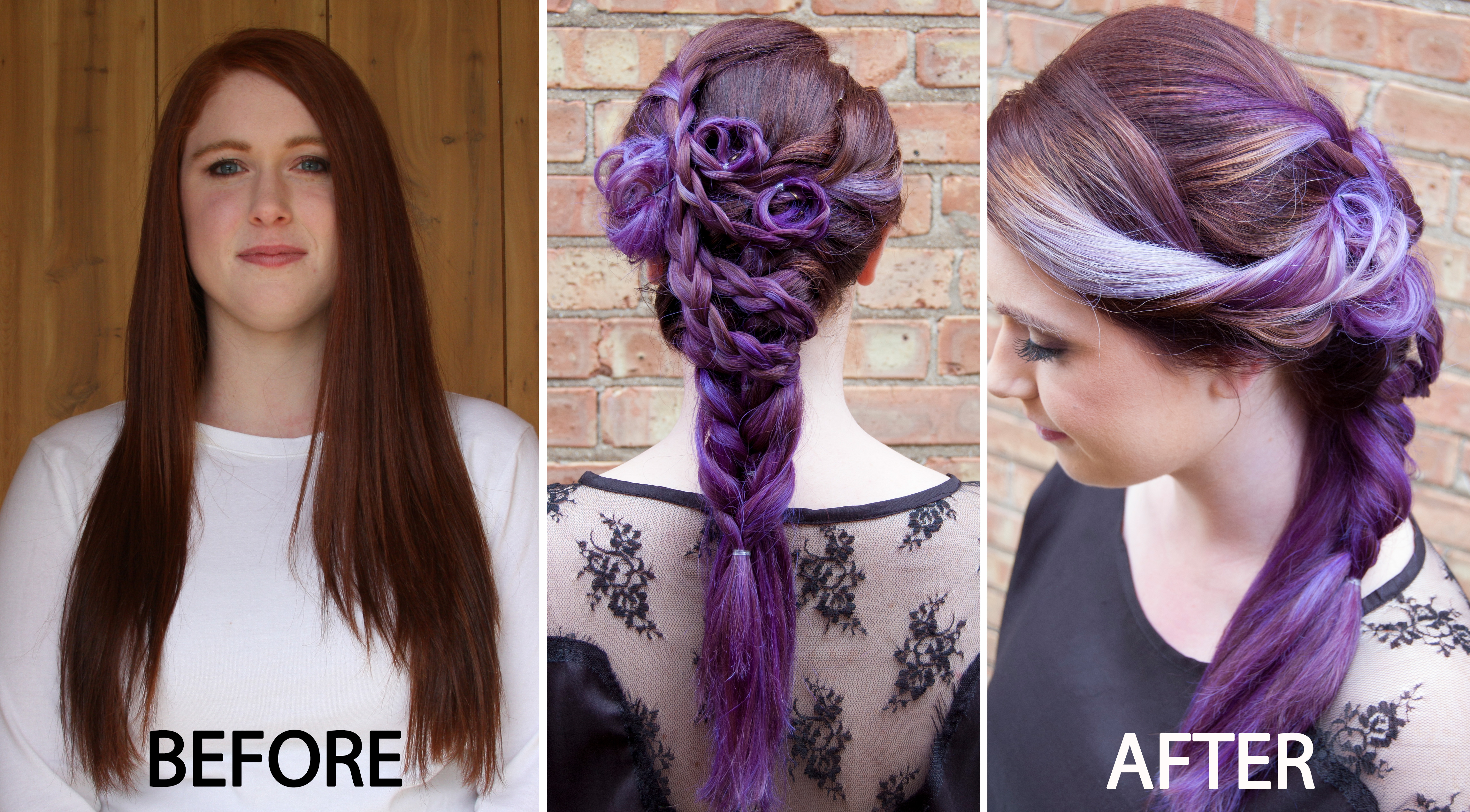 Transformation Level 7 Natural Redhead To Violet With Accents Of