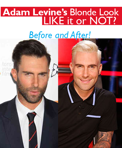 Adam Levine Debuts Platinum Blonde Hair: Yea or Nay?