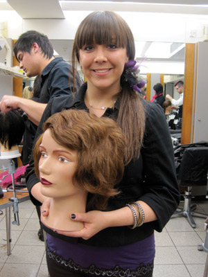 Beauty school students go to London to learn hair cutting techniques