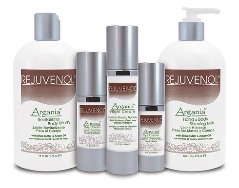 Rejuvenol's Argania Professional Skin Care Line