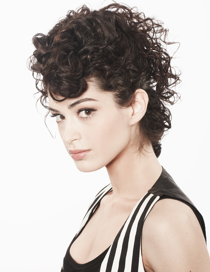 Curly Faux Hawk Hair Tutorial with Morgan Brown  Curls Can