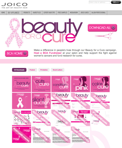 """Joico's """"Beauty for a Cure"""" Launches New Site"""