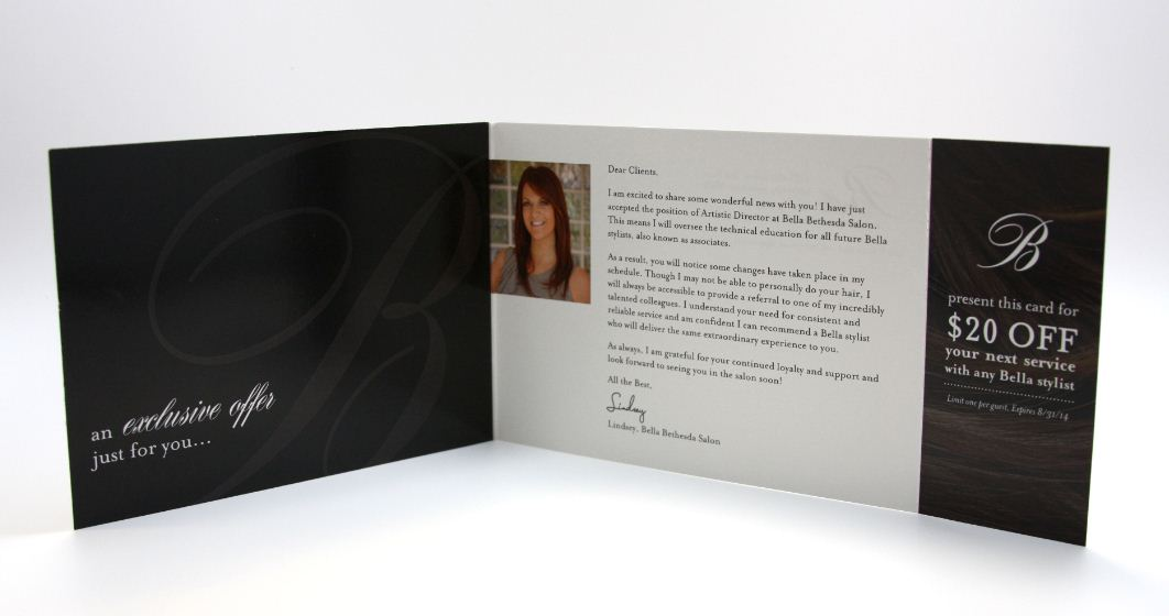 STAMP 2014: Bella Bethesda's Direct Mail Piece