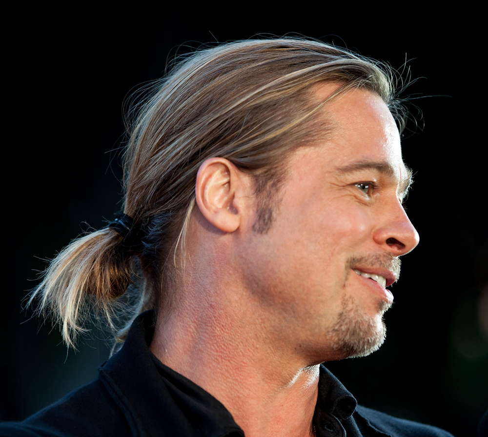 HOW TO Brad Pitts Looped Ponytail At World War Z Premiere