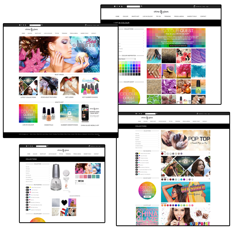 China Glaze Builds Nail Community with Website Redesign