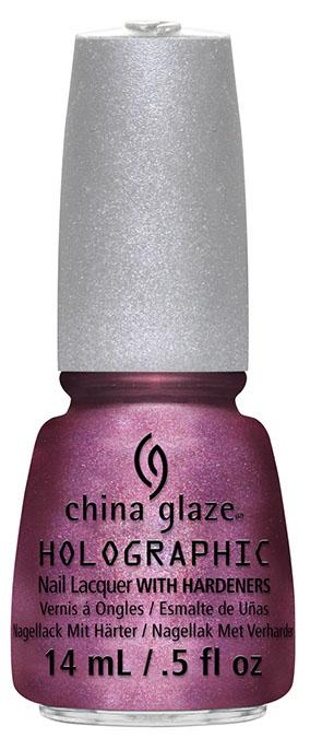 """New China Glaze Hologlam Creates 3-D """"Traveling"""" Effect on Nails"""