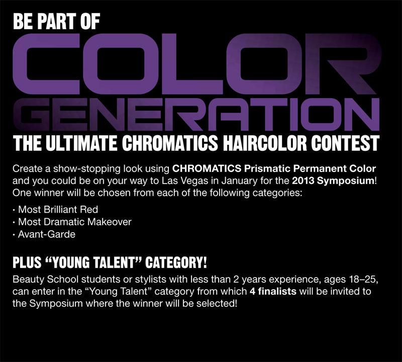 Redken's Ultimate Chromatics Haircolor Contest Details