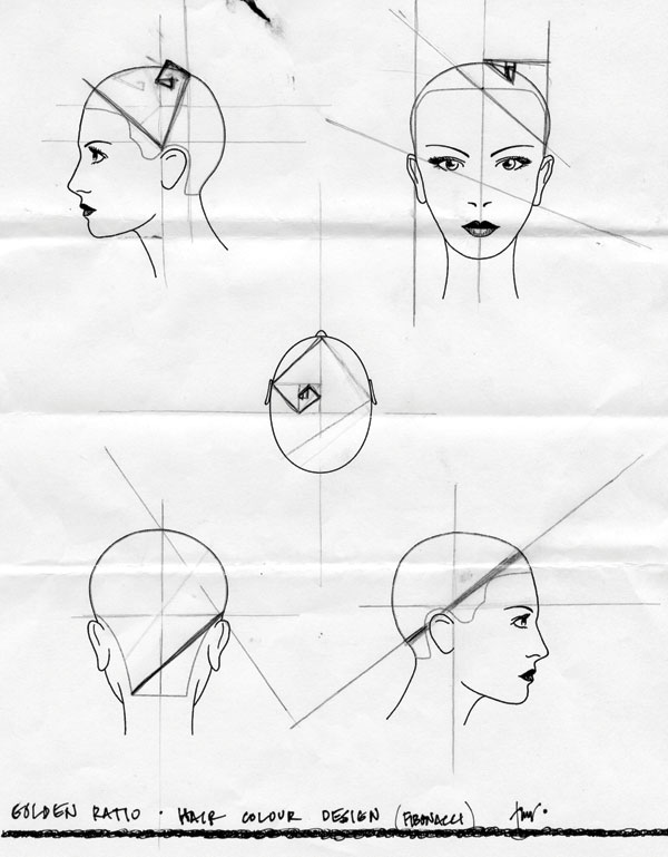 The Golden Ratio in Hair Color