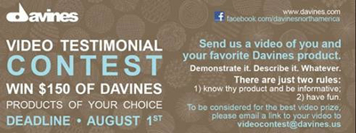 Davines Announces Facebook Video Contest