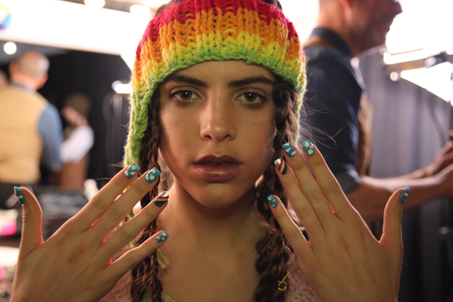NYFW NAILS: OPI Creates Rainbow Nails for DEGEN