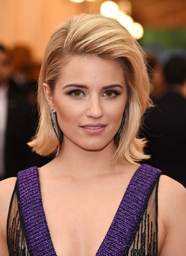 MET BALL 2014: Dianna Agron Angled Bob How-To