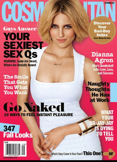 David Babaii on Dianna Agron's Sexy Cosmo Cover Look