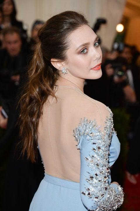 MET BALL 2014: Elizabeth Olsen Textured Half-Up How-To
