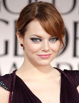 Emma Stone's Romantic, Rough-edged hair style