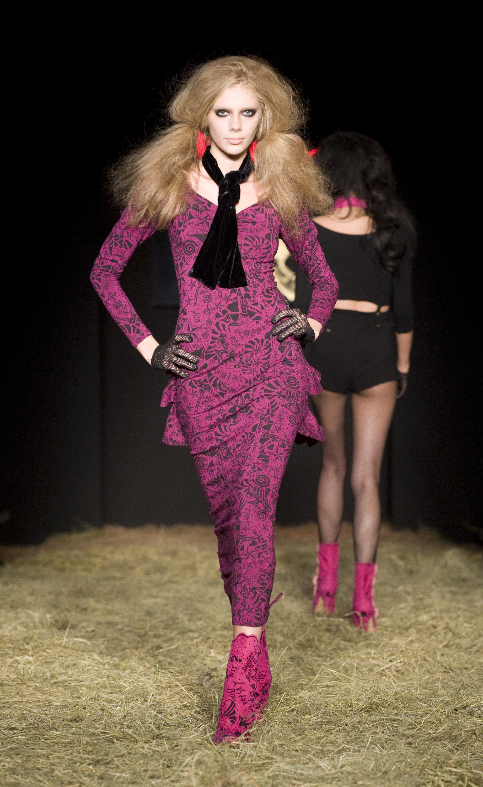Thomas Dunkin creates beautiful hair for Betsey Johnson