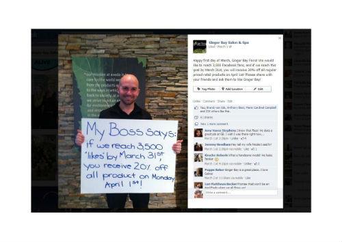 2013 STAMP Social Media Post Winner: Ginger Bay Salon and Spa