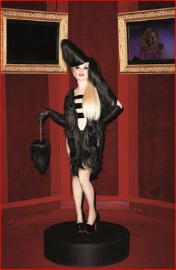 Lady Gaga in Wax -and Hairdreams Hair- Debuts in Paris