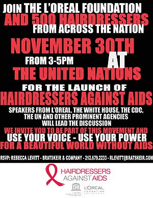 Hairdressers Against Aids at the United Nations