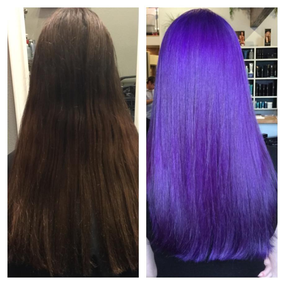 Transformation Royal Purple Career Modern Salon