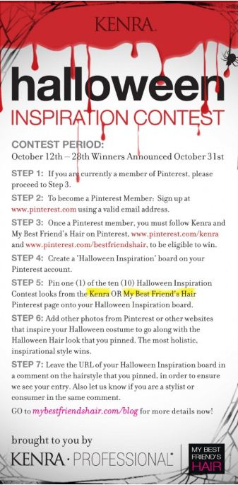 Kenra's Halloween-Inspired Pinterest Contest