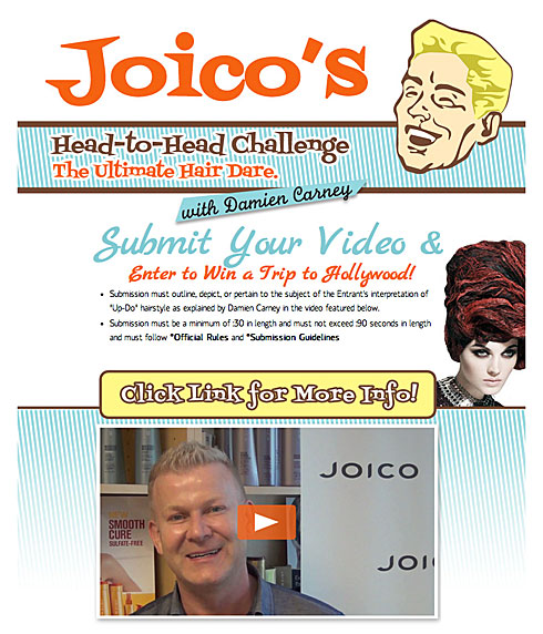 Win a Trip to Hollywood with Joico's Damien Carney
