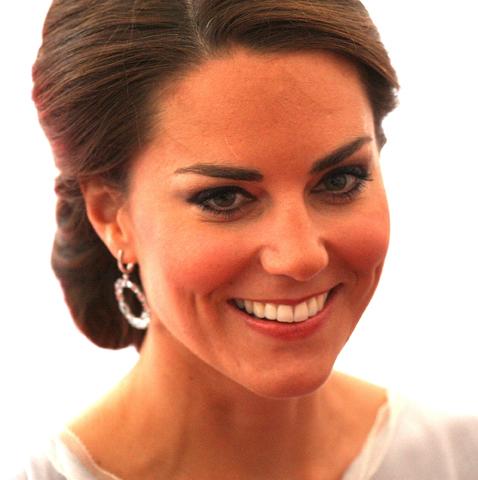 British Royal Kate Middleton's Olympic Chignon