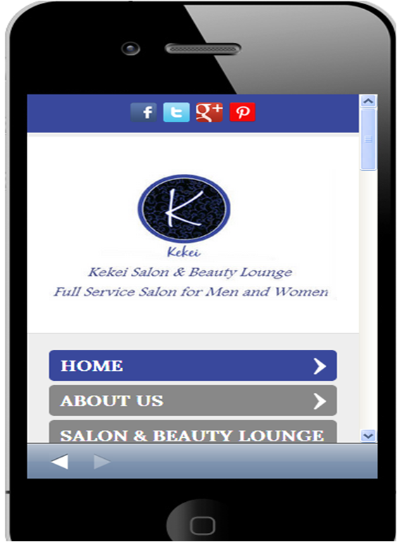 2013 STAMP Mobile Site Winner: Kekei Salon and Beauty Lounge