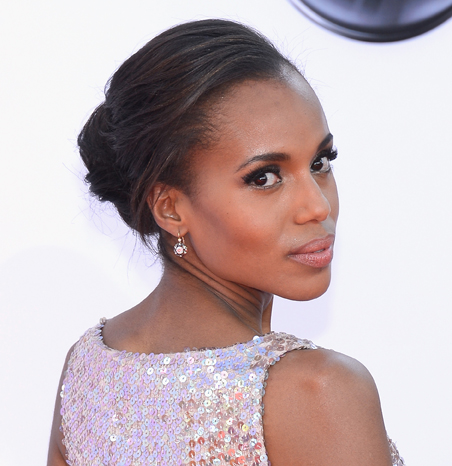 EMMYS HAIR: Kerry Washington's Classic Chignon-inspired Updo