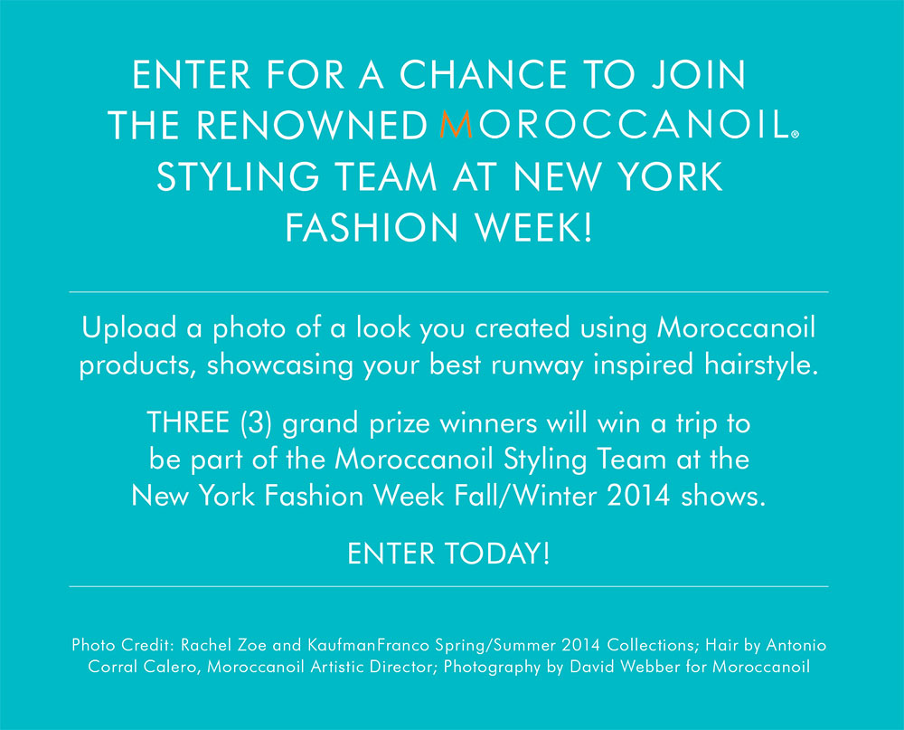 "ENTER: Moroccanoil ""Road to the Runway"""