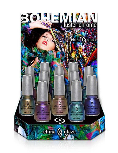 China Glaze Introduces Six Radiant Luster Chromes for Fall 2012