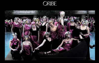 Scenes from the Oribe Backstage Video