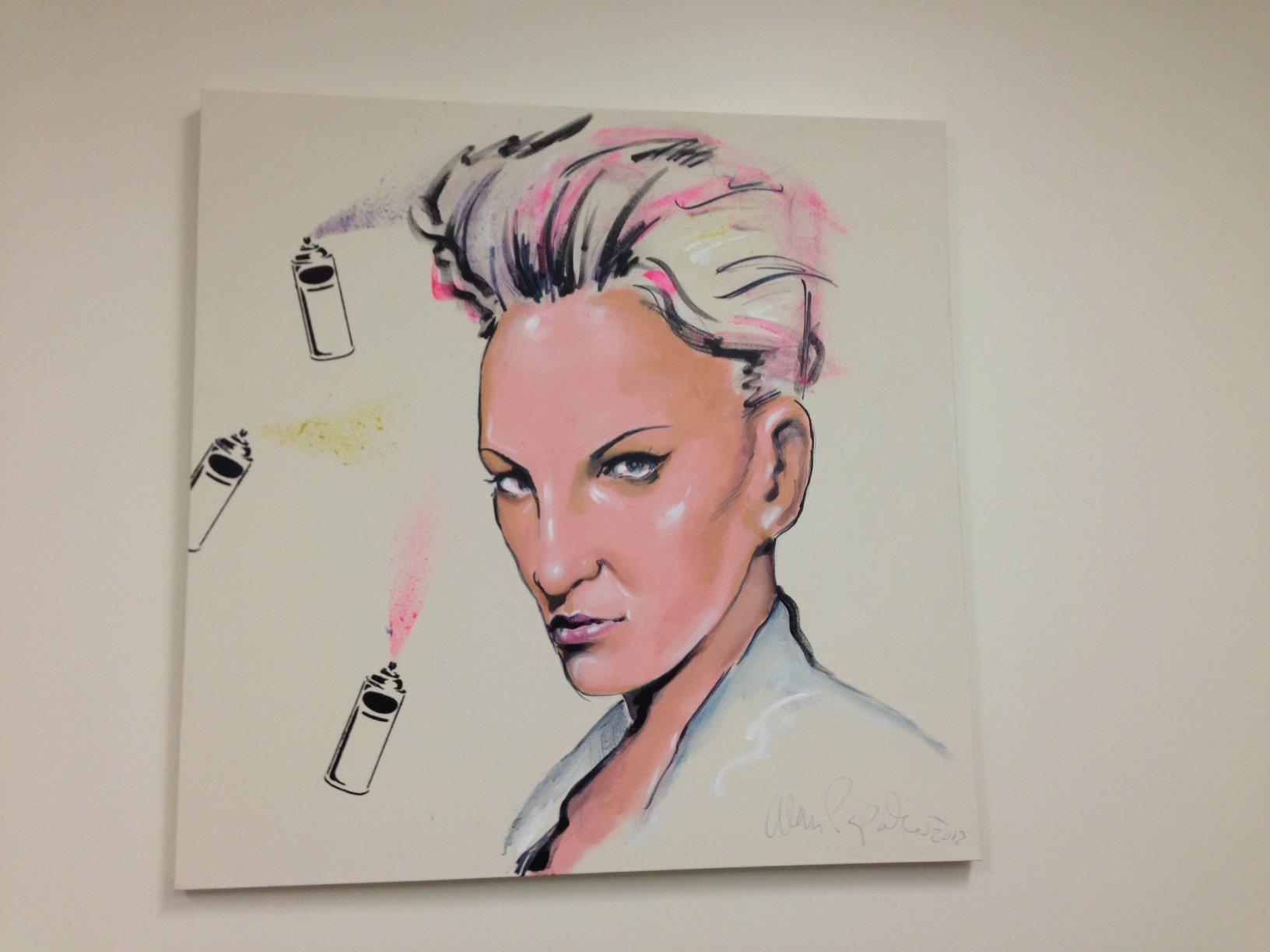 Pravana Vivids Haircolor Creates Art on Canvas and on Hair