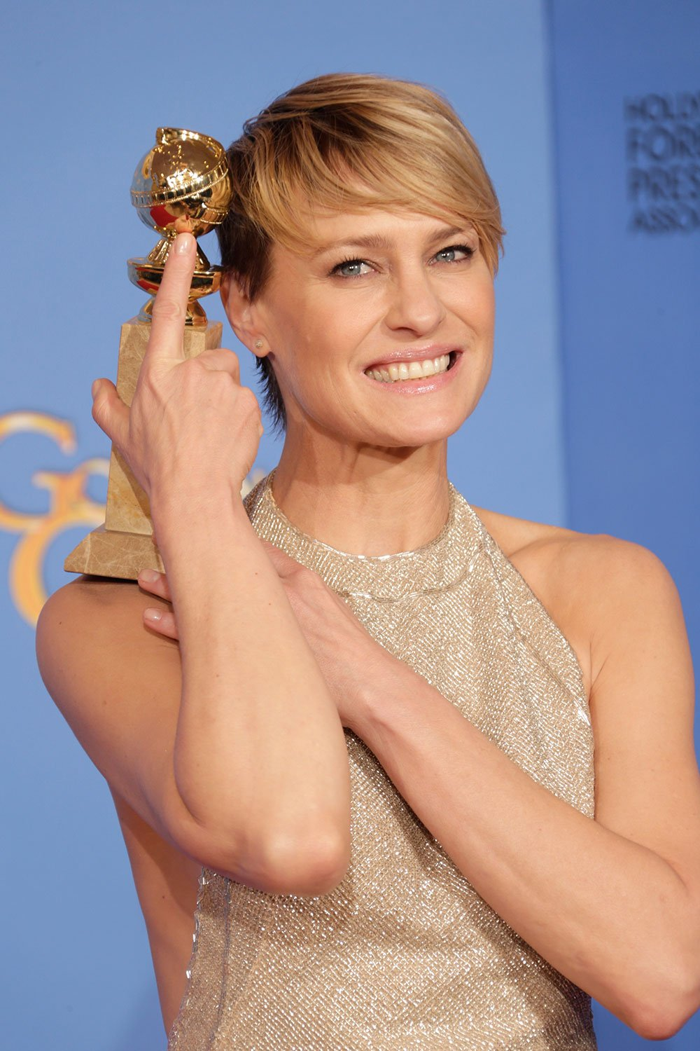 2014 GOLDEN GLOBES: Robin Wright by Paul Norton