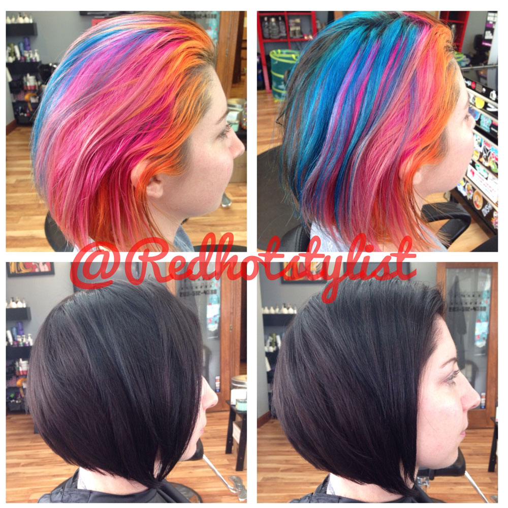 HOW-TO: Rainbow to Chocolate Brown