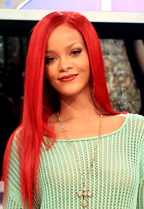 Rihanna's Red Hot Extensions