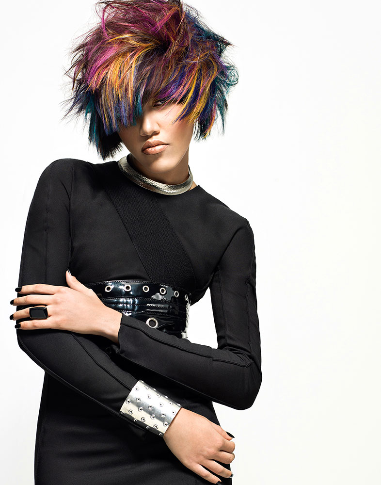HOW-TO: Pretty-in-Punk Highlights by Joico