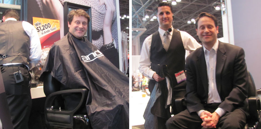 BEFORE AND AFTER: Master Barber Greg Zorian at IBS