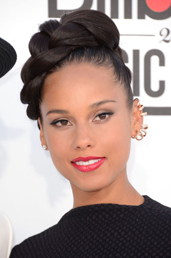 Braided Updo on Alicia Keys at Billboard Music Awards