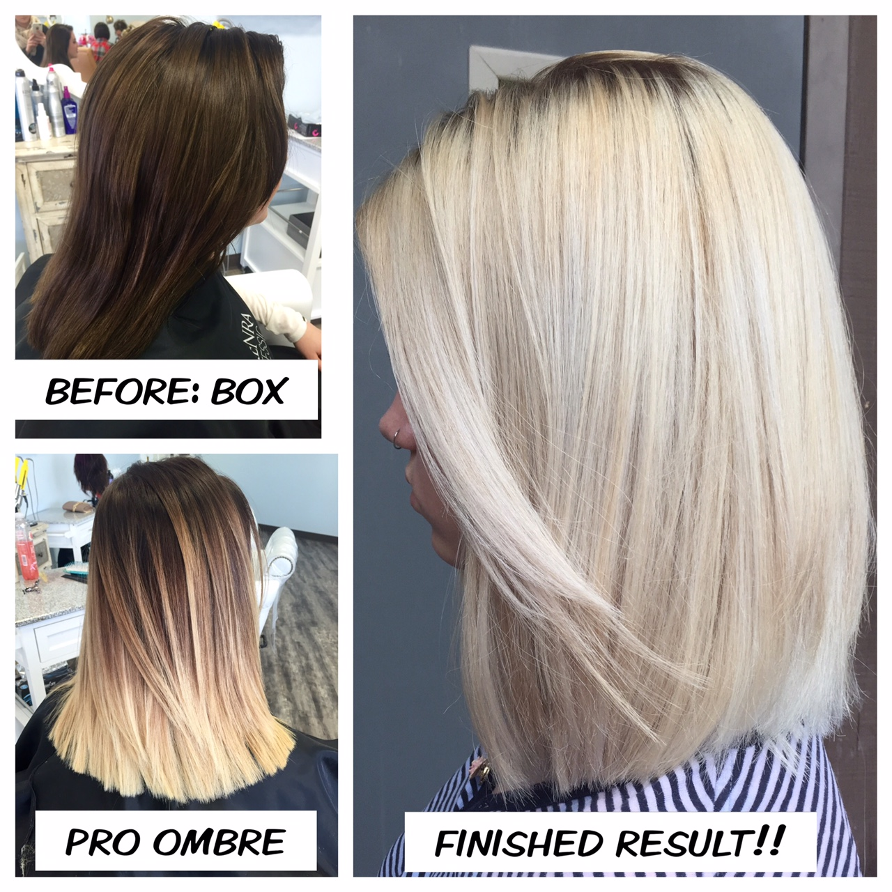 The Journey Box To Ombre To Pro Ice Career Modern Salon