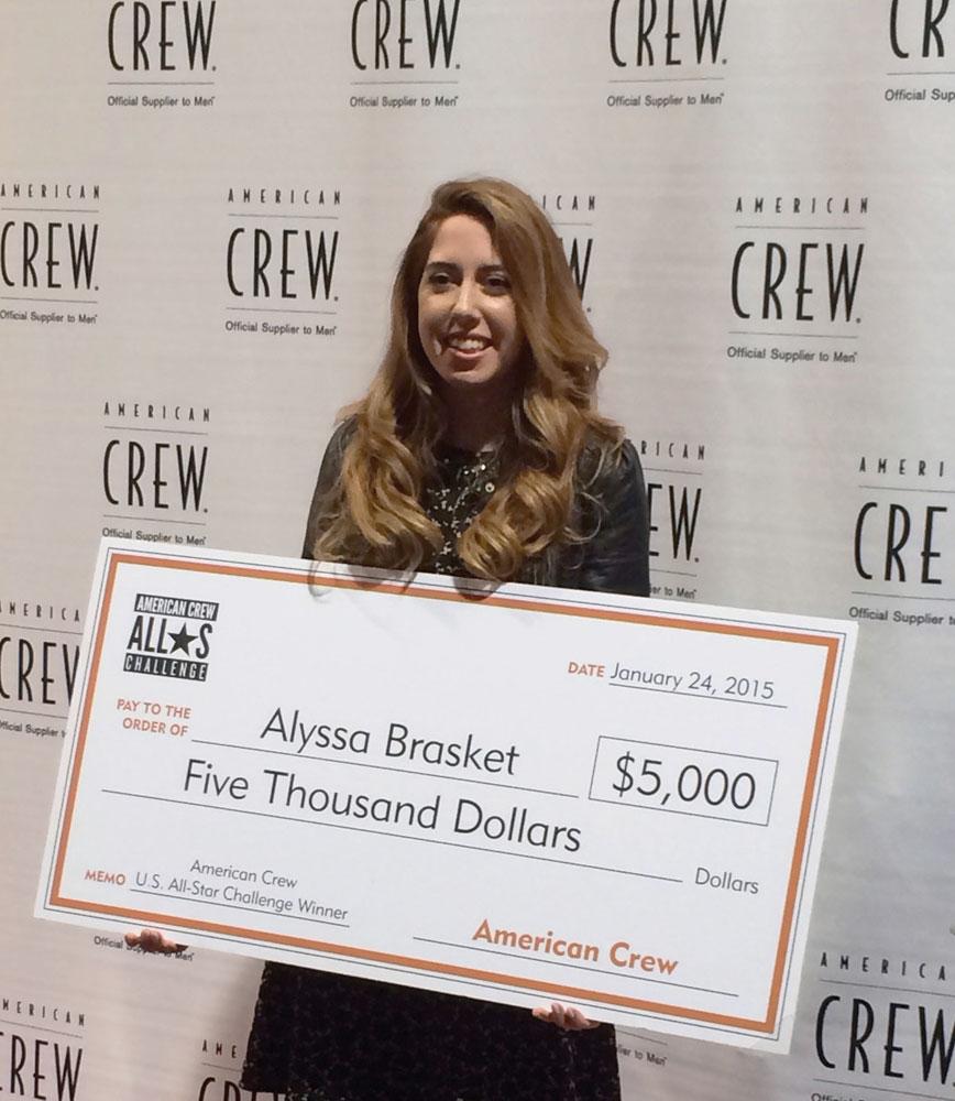 alyssa brasket american crew winner