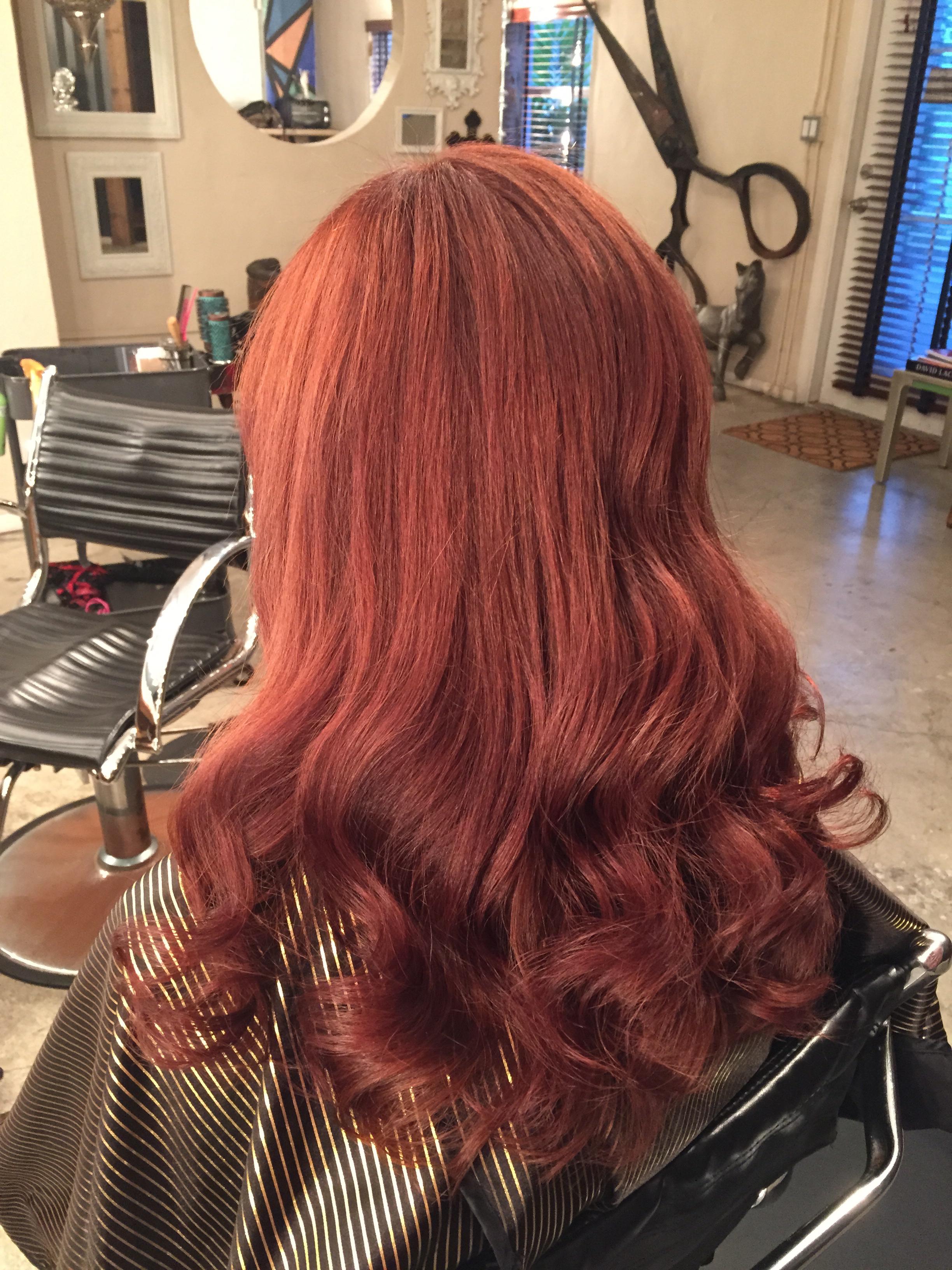 Color Correction Box Black To Vibrant Auburn By Diana Lopez Hair