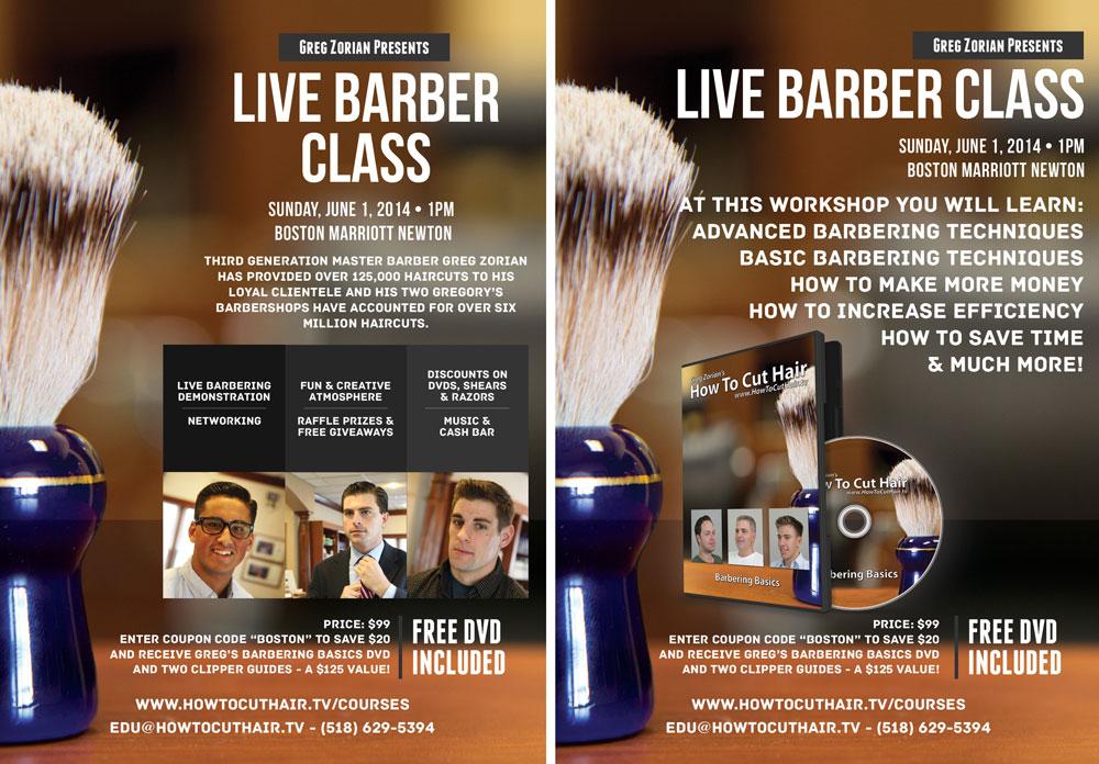 Live Barber Seminars from Greg Zorian in June