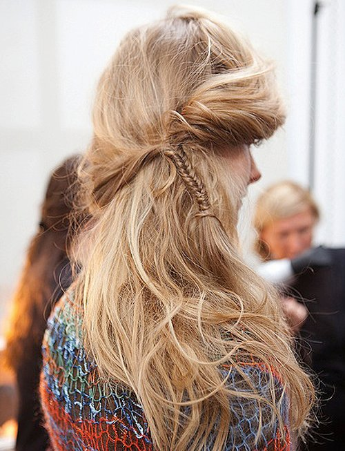FASHION WEEK: Windswept Hair at Rodarte