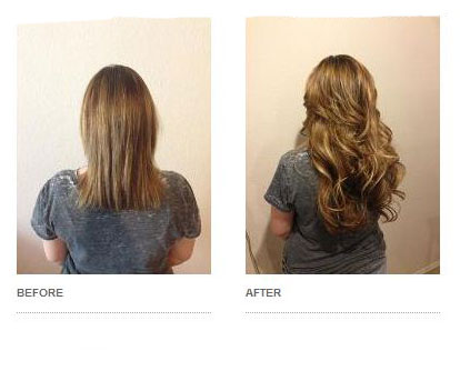 Hair Extension Before and After: Drew Noreen's Transformed Client