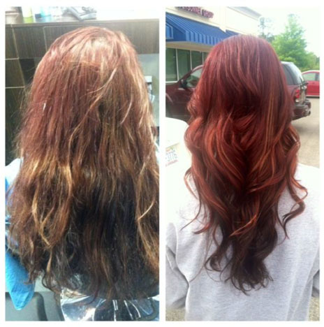 How To: Blah Brunette to Radiant Red Before and After