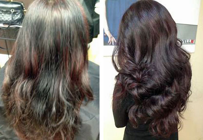 How To Glossy Black Cherry Haircolor Career Modern Salon