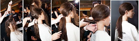 HOW-TO: Voluminous Ponytail from NY Fashion Week