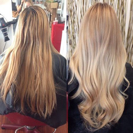 BEFORE & AFTER: Beautiful Beige Summer Blonde